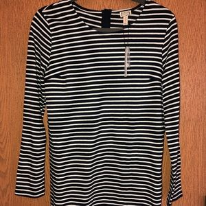 Clad and Cloth (Modern Vintage) Navy Striped Dress